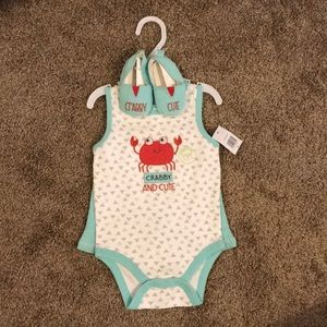 "Baby Gear ""Crabby and Cute"" summer set"